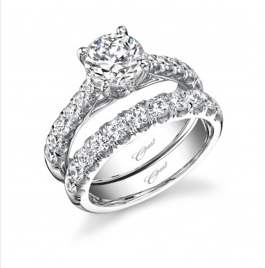 not surprisingly the pgi survey showed platinum leads for high end diamond intensive jewelry such as this bridal set from coast diamond - How Much Should A Wedding Ring Cost