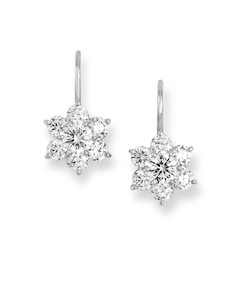 Platinum Flower Earrings With Diamonds Above Right Are Available From 2 60 To 3 50 Ctw 14 000 Left 18k White Gold 05 Of