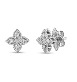 51be4840c Two pieces from the Ritani/Roberto Coin Princess Flower collection  collaboration: diamond pendant, left, $1,650; and stud earrings, right,  $1,050.