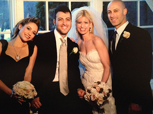 From Left The Four Kulchinsky Siblings Kristen Ryan Lauren And Justin On S Wedding Day